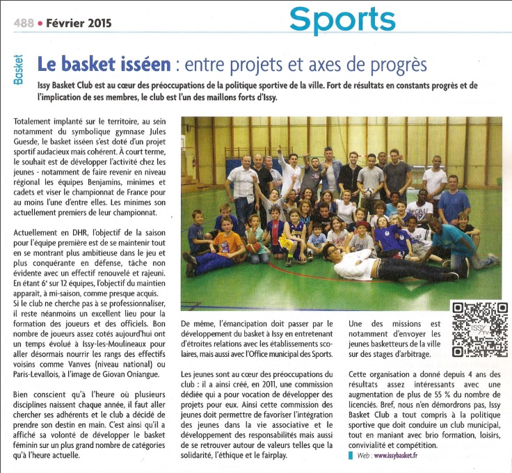 IBC Dans la presse - Issy Basket Club 69c110bd060